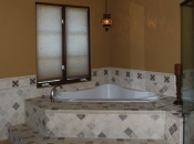 Custom bathroom with jacuzzi tub, Pasadena, CA